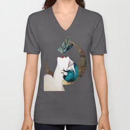 Butterfly Kiss Art Deco Remix Unisex V-Neck
