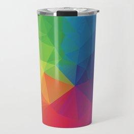 Rainbow Geometric Shapes Travel Mug