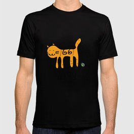 Cute Cat &joy Doodle Drawing T-shirt