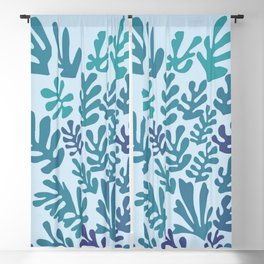 """Collage of Leaves, #4 """"Seaside"""" -by Henri Matisse Blackout Curtain"""