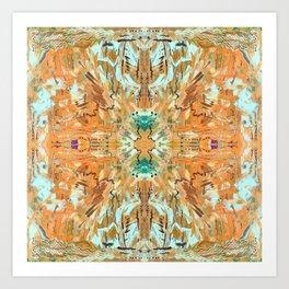 Humming Bird Orange Art Print