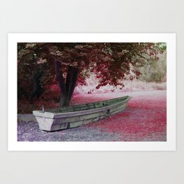 Boat without water Art Print