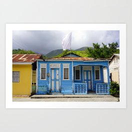 Blue House Art Print