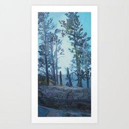 Between Art Print