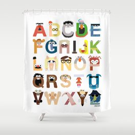 Muppet Alphabet Shower Curtain