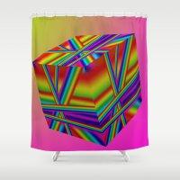 rap Shower Curtains featuring rainbow rap by Mango Katz