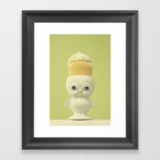 Cupcake Owl Framed Art Print