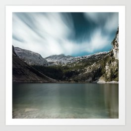 Magnificent lake Krn with mountain Krn, Slovenia Art Print