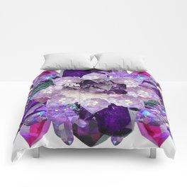 Violet Crystal Explosion Mandala Comforters