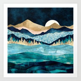 Midnight Ocean Art Print