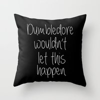 dumbledore Throw Pillows featuring Dumbledore by bitobots