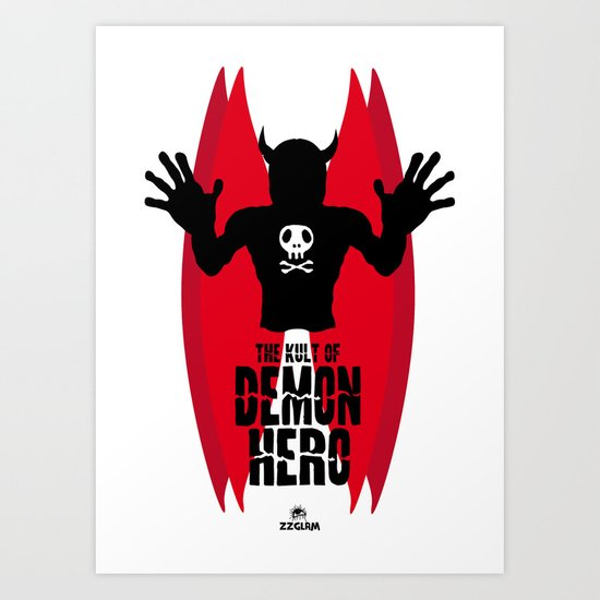 THE KULT OF DEMON HERO Art Print
