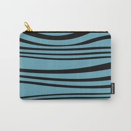 stripes wave Graphic turquoise Carry-All Pouch