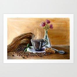 Coffee is Life Art Print