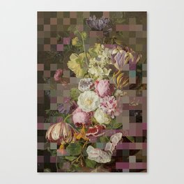 Vintage mosaic floral still life Canvas Print