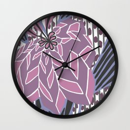 BAYAMO: MAUVE and MORE, Art Deco Tropical Wall Clock