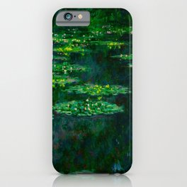 Claude Monet Impressionist Landscape Oil Painting Waterlilies iPhone Case