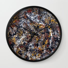 Number 2 Abstract Painting by Mark Compton Wall Clock