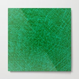 Scratched Green Metal Print