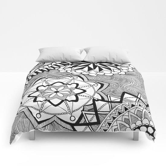 Zen circles II Comforters