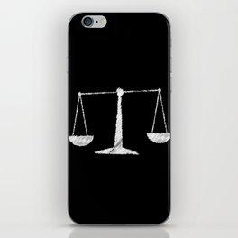 Chalkboard Scales iPhone Skin