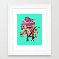 bebop Framed Art Prints featuring Bebop TMNT by beeisforbear