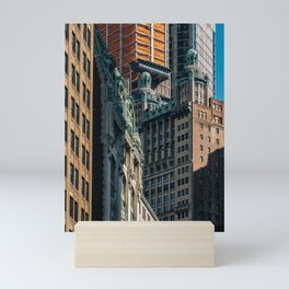 Skyscrapers in Financial District Lower Manhattan 2019 Mini Art Print