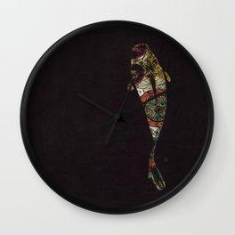 闇に泳ぐ (you are swimming in the darkness) Wall Clock