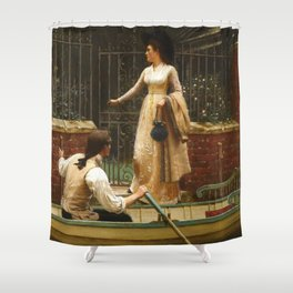 "Edmund Blair Leighton ""The Elopement"" Shower Curtain"
