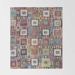 Zili East Anatolia Antique Turkish Rug Print Throw Blanket