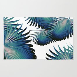 Fan Palm Leaves Paradise #1 #tropical #decor #art #society6 Rug
