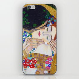 The Kiss by Kustav Klimt - Version by Nymphainna iPhone Skin
