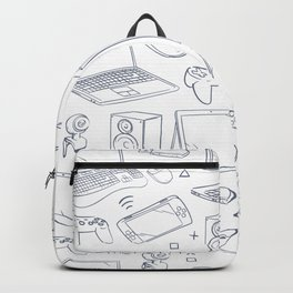 Computer Gaming Video Game Pattern Backpack