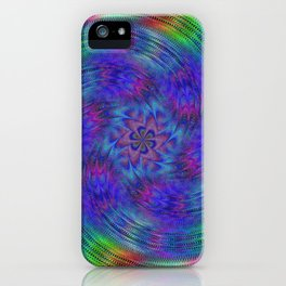 Liquid rainbow iPhone Case