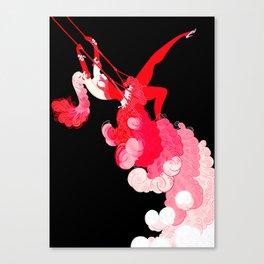 "Art Deco Illustration ""Trapeze"" Canvas Print"