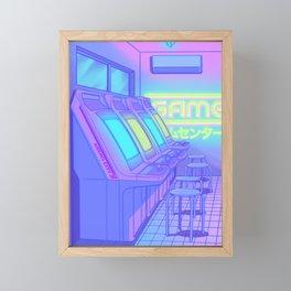 Midnight Arcade Framed Mini Art Print