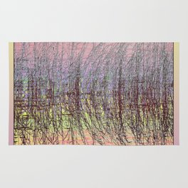GRASS AND WATER ABSTRACT SUNSET Rug