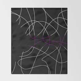 Abstract Threads – Demisexual Pride Flag Throw Blanket