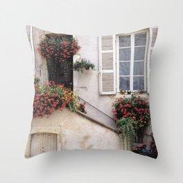 Urban Garden - France Throw Pillow