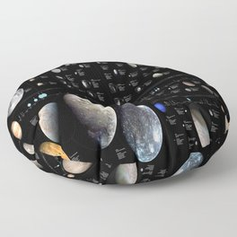 Small Bodies of the Solar System Floor Pillow