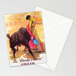Festival of the Bulls, La Malagueta, Andalusia, Spain Vintage Bullfighting Advertising Poster Stationery Cards