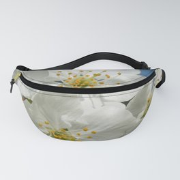 White Cherry Blossoms 01, Spring Fanny Pack