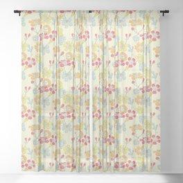 Geraldton Wax Flowers Sheer Curtain