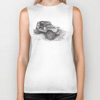 jeep Biker Tanks featuring Jeep by Rik Reimert