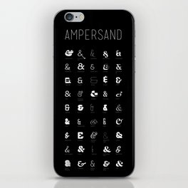 Ampersand Poster iPhone Skin