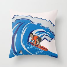 Pressing Waves Throw Pillow