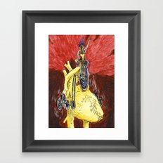 Run The Heart Framed Art Print