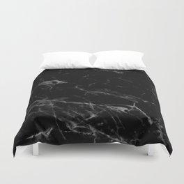 Black Marble Duvet Cover