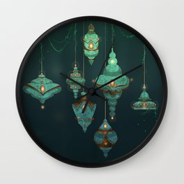 Lamps Wall Clock
