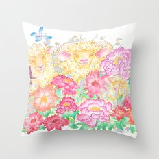 Happy New Year of the Sheep! Throw Pillow